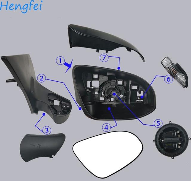 HengFei אביזרי רכב עבור טויוטה יאריס 2012 ~ 2019 מודלים מראה אחורית הרכבה מראה אחורית כיסוי מסגרת איתות