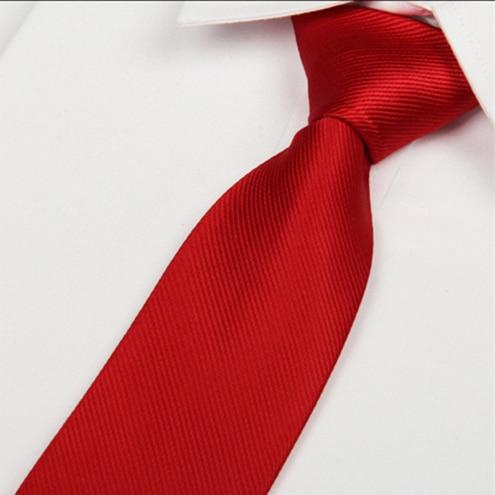 SHENNAIWEI 8cm svatební červený pruh hedvábné kravaty pro muže 2016 pánské kravaty hodně
