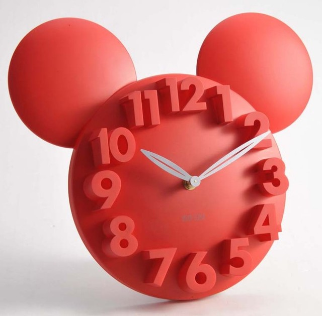 Mickey Maus 3D wanduhr digital groe dekorative wanduhr