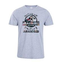 Don't Mess With Mamasaurus You'll Get Jurasskicked Tshirt Dinosaur Shirt Cotton