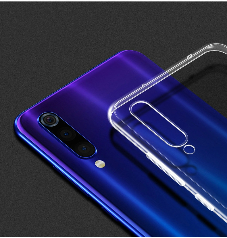 Transparent Silicon Case for <font><b>Xiaomi</b></font> <font><b>Mi</b></font> <font><b>9</b></font> Mi9 6.39 for <font><b>Xiaomi</b></font> <font><b>Mi</b></font> <font><b>9</b></font> <font><b>SE</b></font> 5.97 6GB 8GB 128GB Anti-knock Phone cover Cases <font><b>Capa</b></font> Etui image