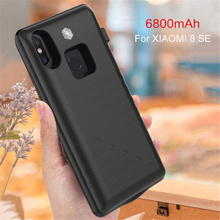 6800mAh Portable Power Bank Cover For Xiaomi 8 SE Extended Phone Battery Power Case For Xiaomi Mi 8 Backup Battery Charger Case цена 2017