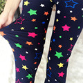 New 2016 Women Star printing Sexy Leggings High Elastic Women Casual Pants Hot Selling
