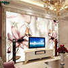 Beibehang Large Custom Wallpapers High Grade Exquisite European Style Flowers 3D Soft Bag Background Wall Decoration