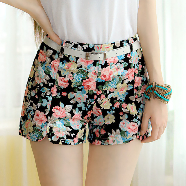 2016 summer new fashion hot shorts sweet lady lace embroidery casual shorts women short feminino. Black Bedroom Furniture Sets. Home Design Ideas