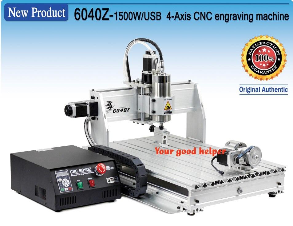 L'UE Livraison! 4 axes 6040Z 2200 W USB Mahc3 CNC Machine de gravure 220VAC avec port USB avec interrupteur de limite taxes gratuites
