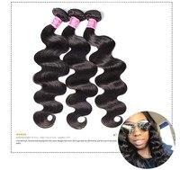 Юлия Али волос малайзии объемная волна связки 8 до 30 дюйм 100% натуральные волосы расширение Реми ткань натуральный цвет # 1В 1 шт. 3 шт. 4 шт
