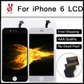 20PCS/LOT No Dead Pixel 100% Guarantee Grade AAA For iPhone 6 LCD Screen Replacement 4.7 Black and White Free DHL Shipping