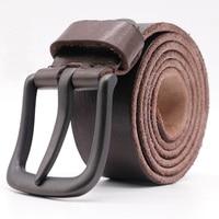 2017 Casual Designer Belt Men High Quality Luxury 100 Real Cowboy Full Grain Genuine Leather Vintage