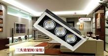 30 w led cob led de la lámpara lámpara olla de frijoles 360 ajustable 30 w parrilla led 360 degree rotación AC85-265V