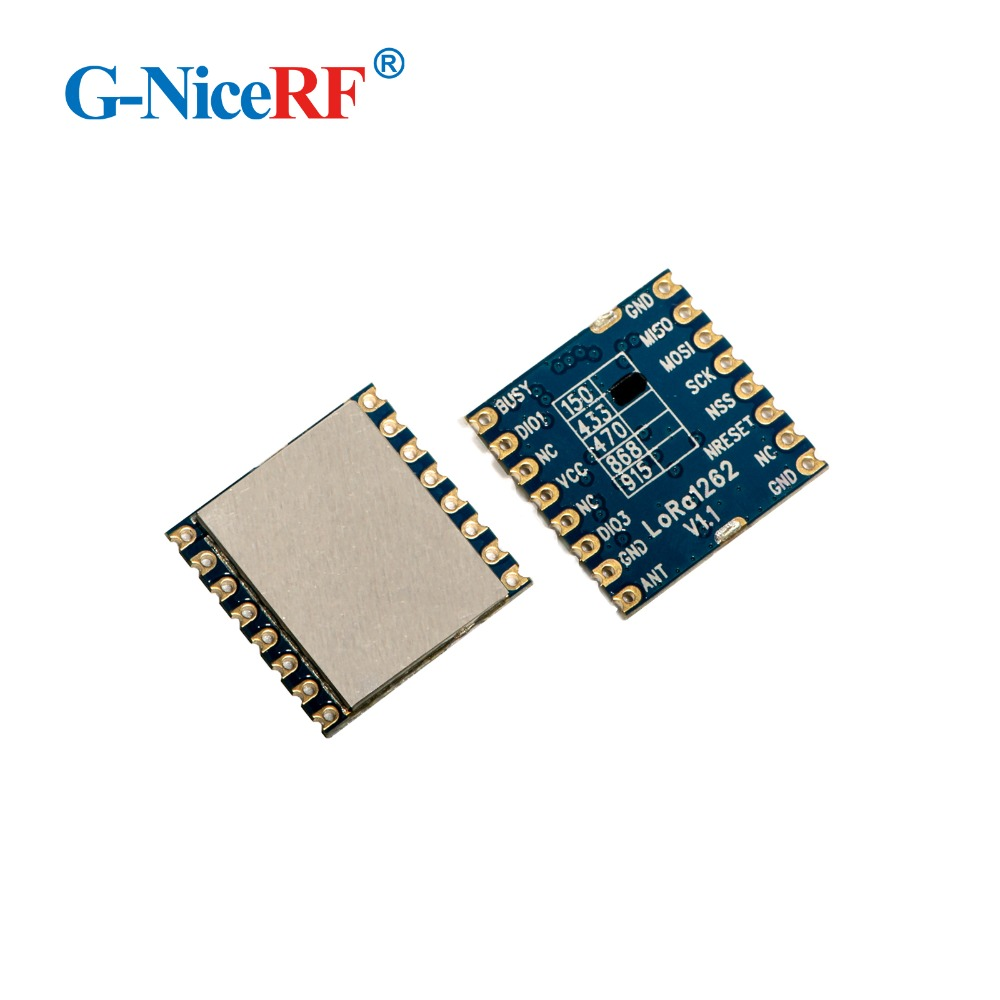 1Piece 22dBm 868mhz 915MHz SX1262 LoRa1262 Ultra-low Receive Current 4.6mA Long Range SPI Interface Wireless Module