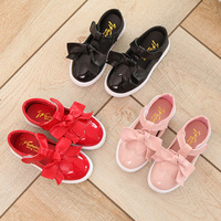 6595 ילדי סתיו אביב אופנה זהב שחור מעצב מותג נעלי ספורט ספורט ריצת בנות ילדי נעליים מזדמנים עור תפירת קשת