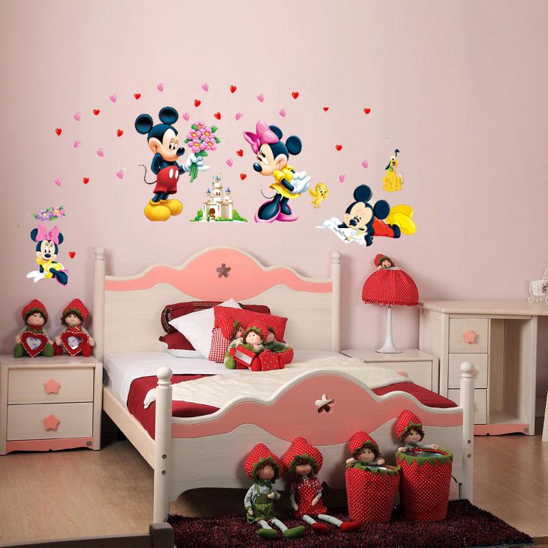 HTB1FEq4KpXXXXaVXXXXq6xXFXXX2 - Cartoon Mickey Minnie Mouse wall sticker for kids room