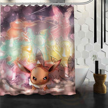 Newest Pokemon Classic Most Popular Cartoon Animation Shower Curtain  Pattern Customized Curtain Fabric For Bathroom(