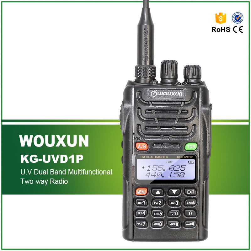 Hot Sell Waterproof IP-55 Classic Wouxun Dual Band Professional Two Way Radio KG-UVD1P Free Car Charger