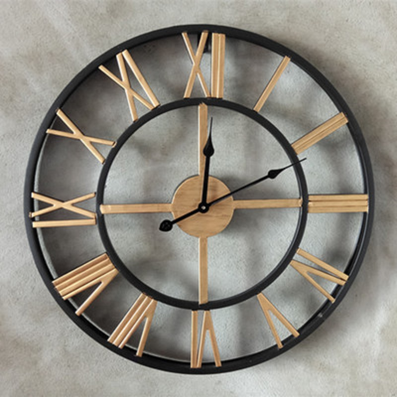 50 cm grande horloge murale saat chiffres romains horloge reloj relogio de parede duvar saati. Black Bedroom Furniture Sets. Home Design Ideas