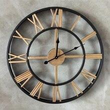 50CM Large Wall Clock Saat Roman numerals Clock Reloj Relogio de Parede Duvar Saati Horloge Murale
