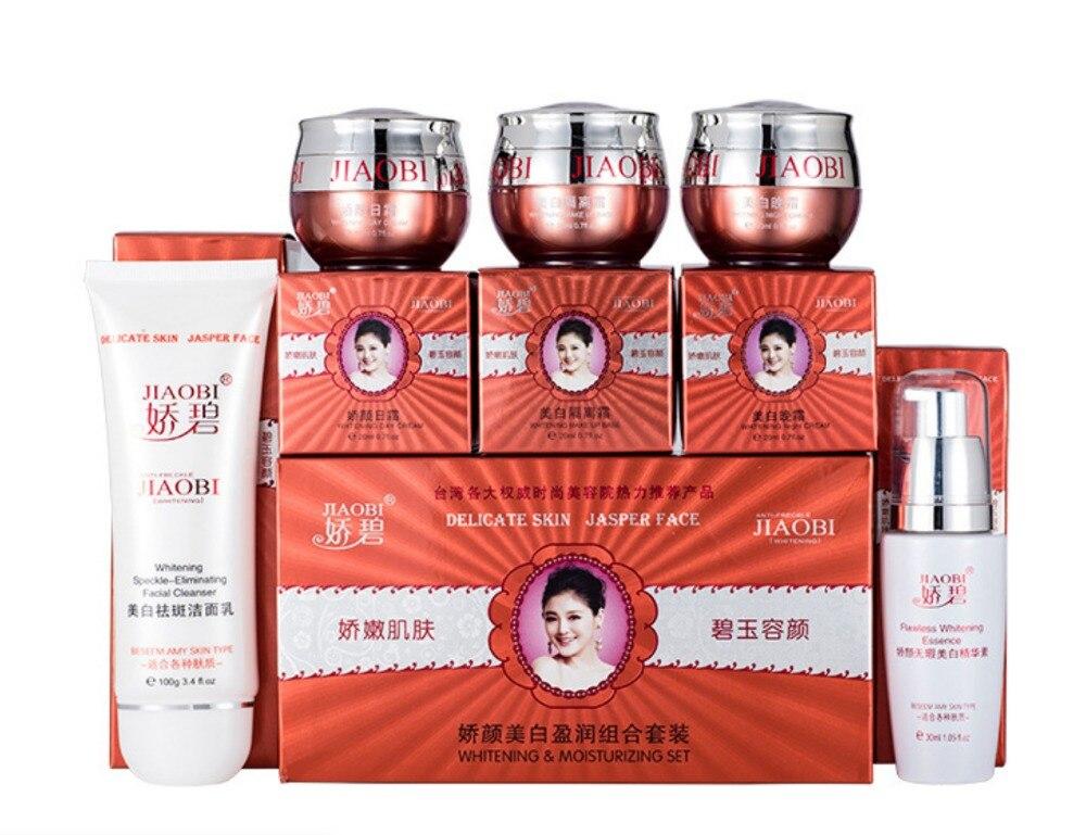 Original Chinesische Marke JiaoBi Jiao Yan bleaching Ying 4 in 1 hautpflege set großhandel