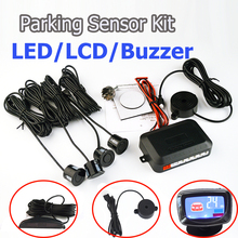 SINOVCLE Kit Sensore di Parcheggio Buzzer/LED/Display LCD Reverse Backup di Sistema Radar Monitor 12V 8 Colori