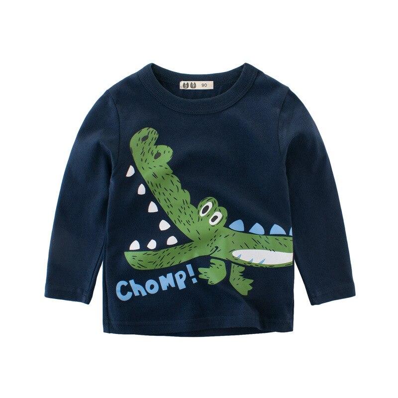 ESCERO Long Sleeve T-Shirt For Boys T Shirt Cartoon Christmas Teen Girl Tops Size 5 6 7 8 years Teenage Toddler Boy Tshirts