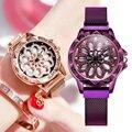 NAKZEN Топ бренд gyro вращающийся циферблат сетка стальной ремешок женские кварцевые часы женские часы японский механизм водонепроницаемые жен...