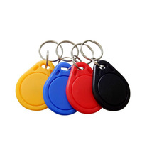 Security protection rfid access control fobs 13.56mhz mf 1k FM1108 read only key chain token 200 pieces/ lot