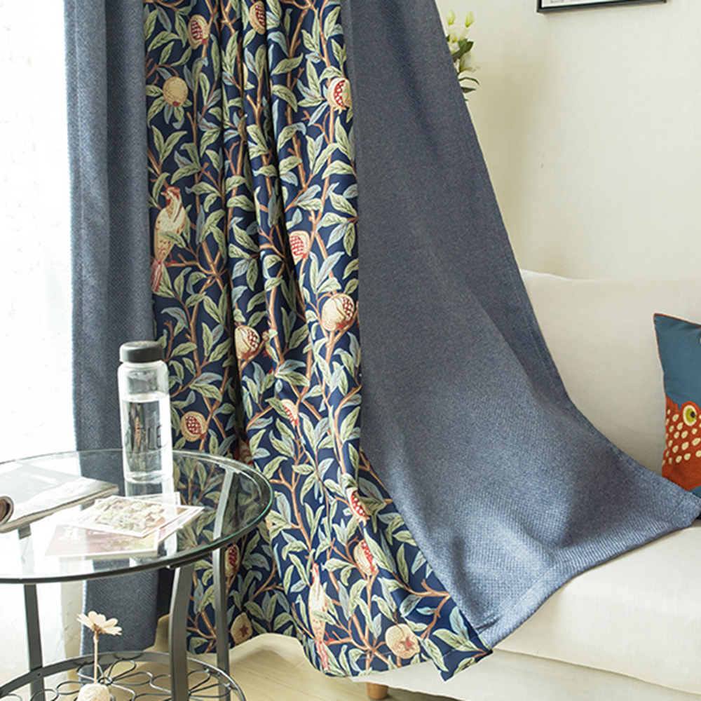Dark Blue And Grey Curtains Us 16 59 Luxury Cotton And Linen Curatin Tulle Embroidered Flowers Dark Blue Curtains White Tulle Blackout Curtains Gauze For Living Room In