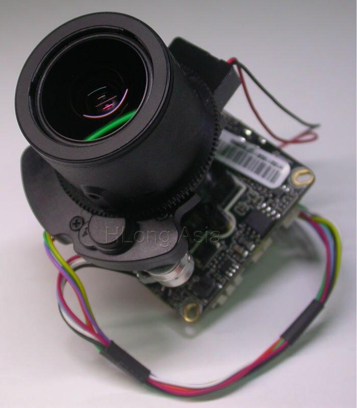 "bilder für IPC (1080 P) 2,8-12mm Motorisierte Zoom & Auto Brenn LEN 1/2. 8 ""IMX322 CMOS + Hi3516C cctv-ip-kamera-modul bord (option LAN Kabel)"