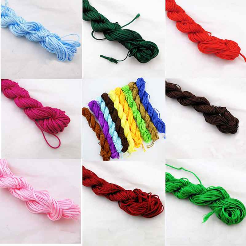 1pcs Nylon Cord Thread Chinese Knot Macrame Rattail Bracelet Cord ...