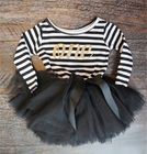 Autumn Girls Dresses Stripe Baby Kids Clothing For Infant First Birthday Party Wear Tutu Dress Girls Clothes For Newborn 0-2Yrs