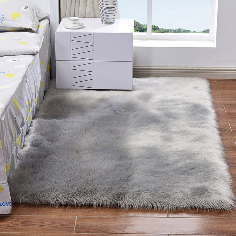 Shaggy Carpet For Living Room Home Warm Plush Floor Rugs fluffy Mats Kids RoomFaux Sheepskin Chair Cover Silky Rugs 15 Color 1pc