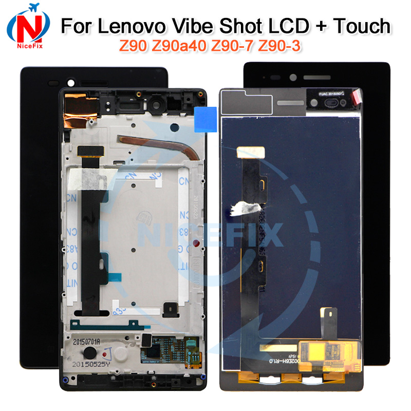 For 5 Lenovo Vibe Shot Z90 Lcd Digitizer For Lenovo Z90 Z90-7 Z90-3 Lcd Display Assembly For Lenovo Vibe Shot Latest Technology Mobile Phone Lcds Mobile Phone Parts