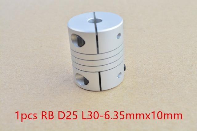 RB 6.35mmx10mm D25 L30 shaft coupler flexible coupling stepper motor encode for 6.35mm shaft 10mm shaft 1pcs