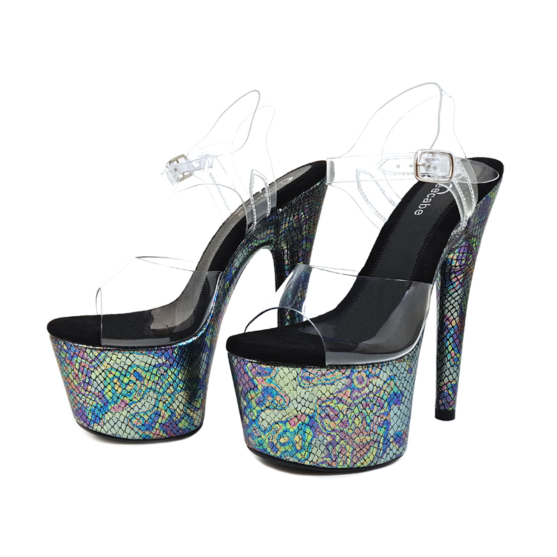 Leecabe New designs 17cm crystal fancy pole dance sandals lady shoe high  heel platform pole dancing shoes-in Dance shoes from Sports   Entertainment  on ... 45a6ecf6dd02