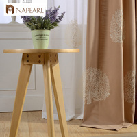 Rustic Design Modern Curtain Window Drapes Short Curtains Kitchen Embroidered Luxury Living Room Curtains With Tulle