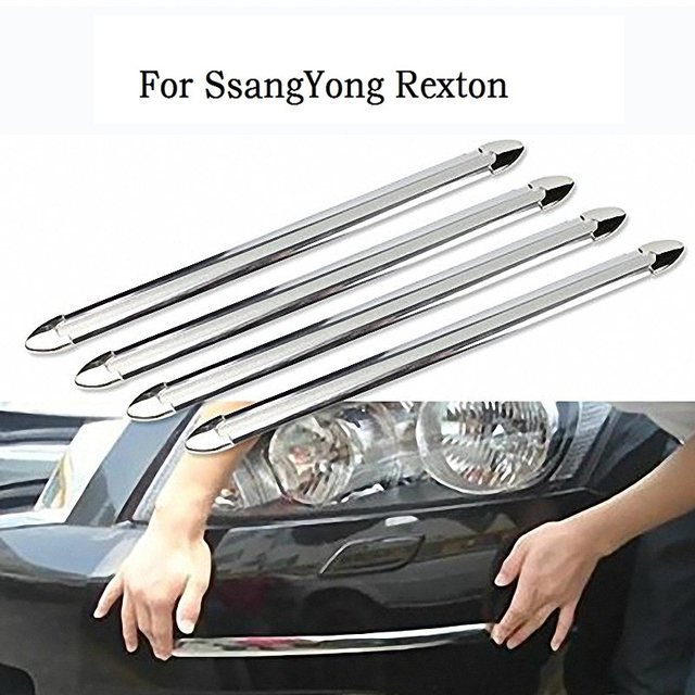4 pcs set silver tone powdered car door bumper guard protector sticker car styling for
