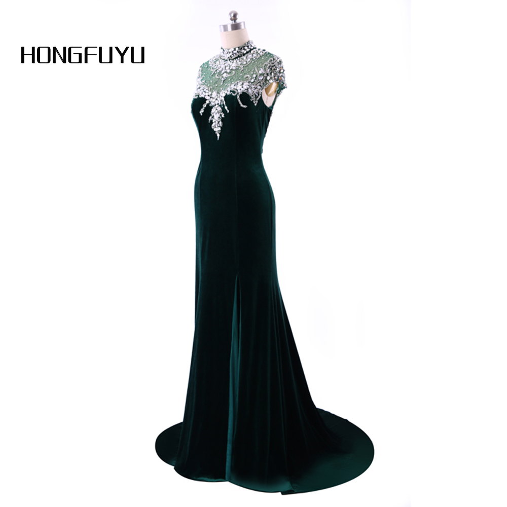 Detail Feedback Questions about Long fitted elegant high neck prom ... 7e745b974d20