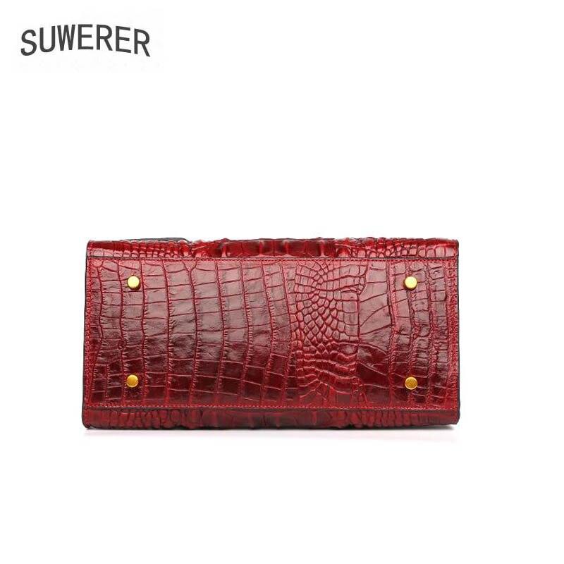 Berühmte 2019 Überlegene Geprägte Red Suwerer Leder Frauen Luxus Tasche Rindsleder Handtaschen Echtes Marke Taschen Neue FqwUWfdz