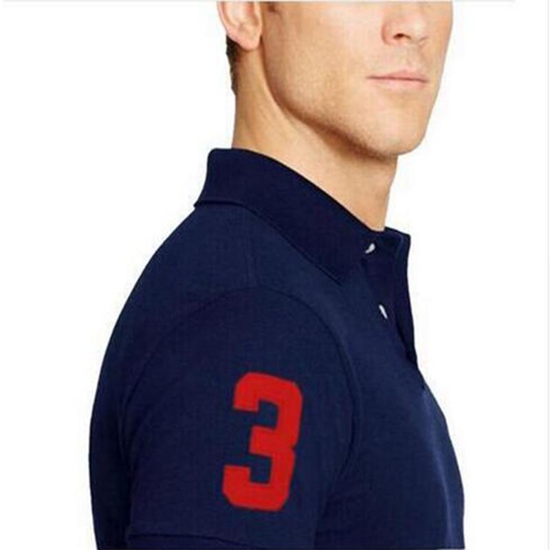 Stetig 2019 Neue Marke Männer Große Pferd Stickerei Polo Shirt Für Männer Luxus Polo Männer Baumwolle Kurzarm Shirt Trikots T Plus Größe