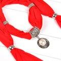 Bufandas mujer Diseño Floral Bufanda de Las Mujeres Bufanda de La Joyería Colgante de Perla Blanca Charm Anillo de La Flor Bufandas Del Collar 62