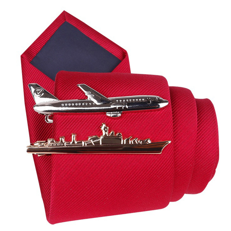 Tie-Clip Airplane Tableware-Shape Dolphin Steamship Wedding-Party-Tie-Pin Gifts High-Grade