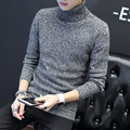 2016 winter new men's turtleneck sweater Korean Slim thick solid color sweater pullovers knitwear cultivating shirt color trend