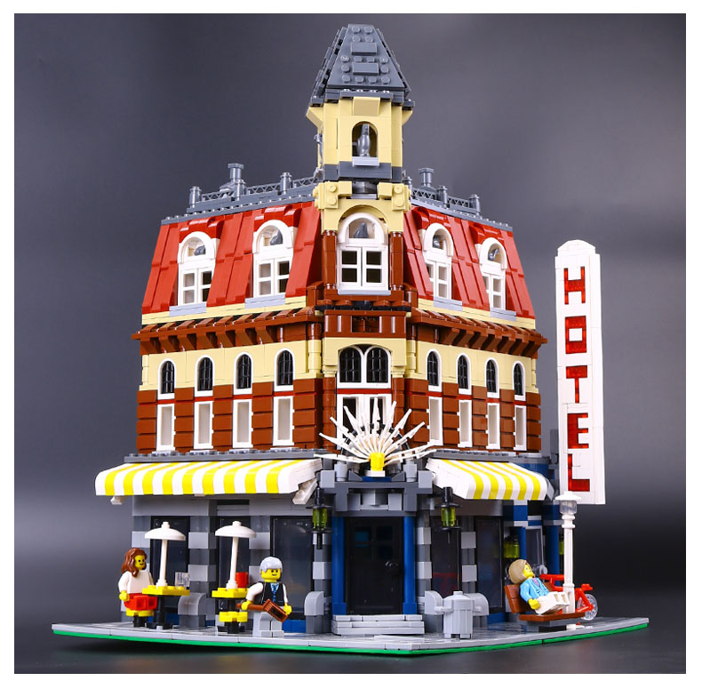 2016 New 2133Pcs LEPIN 15002 Cafe Corner Model Building Kits Blocks Kid Funny Toy Gift Compatible With 10182 lepin 02012 city deepwater exploration vessel 60095 building blocks policeman toys children compatible with lego gift kid sets