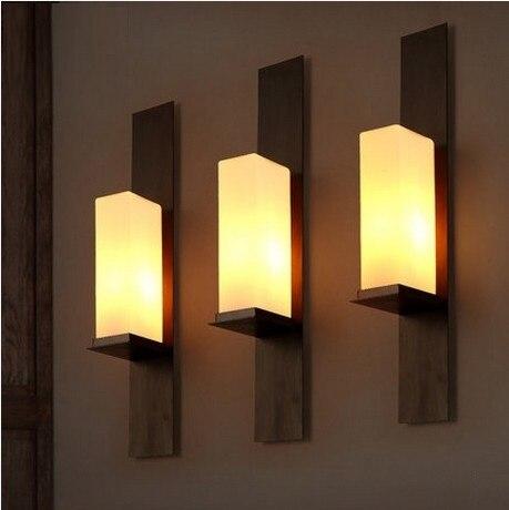 retro estilo loft lmpara de pared led de cristal de hierro de poca lmpara de pared - Lamparas De Pared