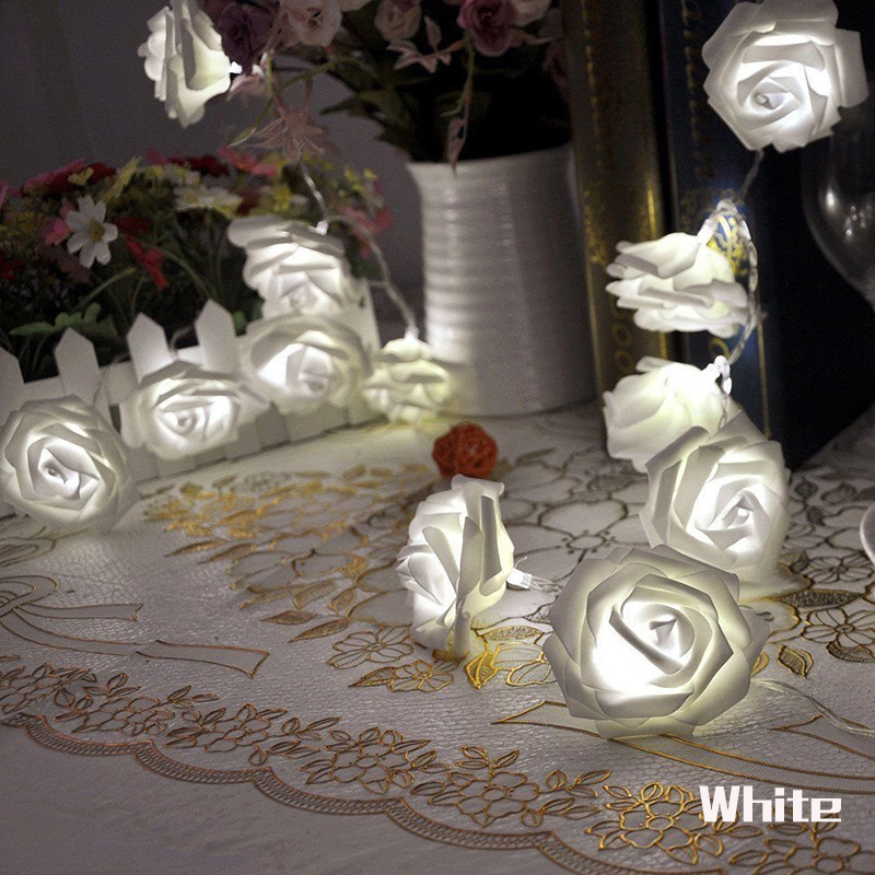 20 LED 2M Batteri Rose String Nytår Jul Garlands Lights Decoration - Ferie belysning - Foto 6