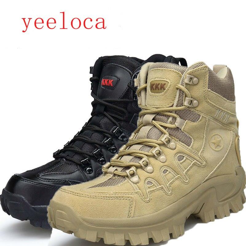 Yeeloca été haute chaussures tactiques US militaire Delta bottes tactiques commerce extérieur en plein air grande cour sable couleur bottes d'entraînement