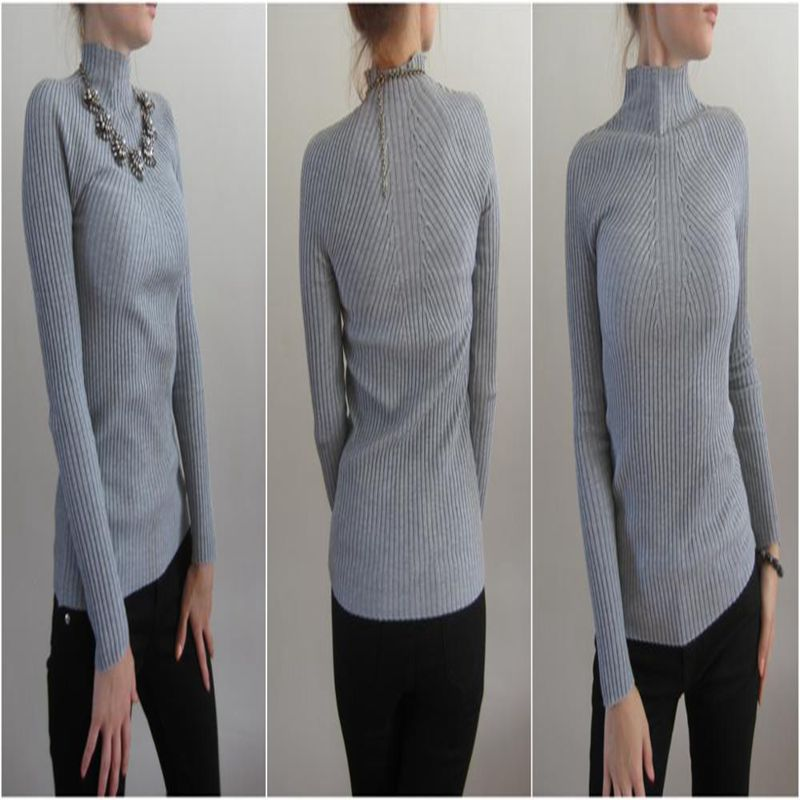 New Fashion Wanita turtleneck sweater 2018 Kasual musim semi wanita - Pakaian Wanita - Foto 6