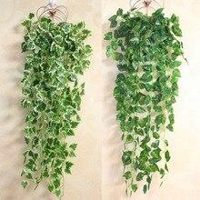 Home-Decor Garland Vines Artificial-Flower Silk Leaves Green Plant Plastic Ivy-Leaf Popular