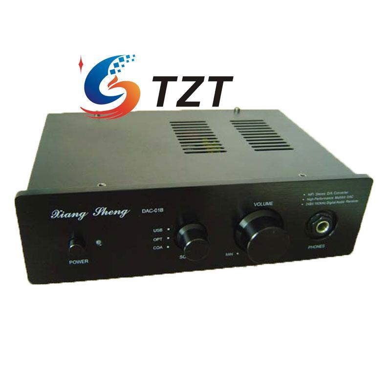 все цены на  XiangSheng DAC-01B Digital Decoder Headphone Amplifier USB SPDIF DAC HIFI Coaxial Optical 24bit 96khz Black/Silver  онлайн