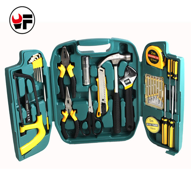 Us 41 23 20 Off 27pcs Woodworking Tool Set Screwdriver Set Knife Repairs Tools Set Kit In A Suitcase For Home Hand Tool Boxes Instruments Dn107 In